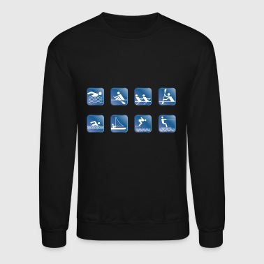 water skiing water ski wasser2 - Crewneck Sweatshirt