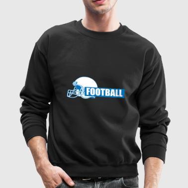 Football Block Text - Crewneck Sweatshirt