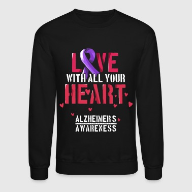 Alzheimer's Awareness, Dementia Caregivers Design - Crewneck Sweatshirt