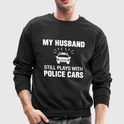 Husband Plays Police Cars Shirt - Crewneck Sweatshirt
