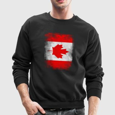 Canada Flag Proud Canadian Vintage Distressed - Crewneck Sweatshirt