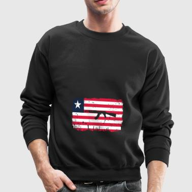 homeland fight ak 47 heimat roots Liberia png - Crewneck Sweatshirt