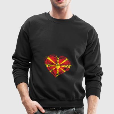 HOME ROOTS COUNTRY GIFT LOVE Macedonia - Crewneck Sweatshirt