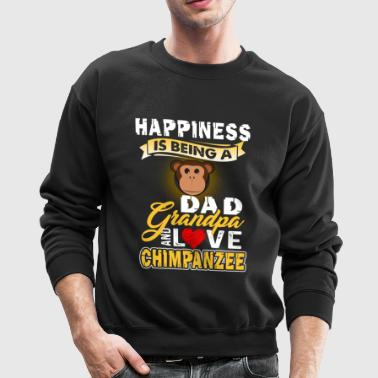 Chimpanzee Shirt - Chimpanzee Dad Shirt - Crewneck Sweatshirt