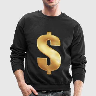 Gold Money Bling - Crewneck Sweatshirt