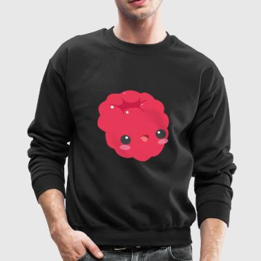 Raspberry Fruit Fruity Sweet Cute Gift Present - Crewneck Sweatshirt