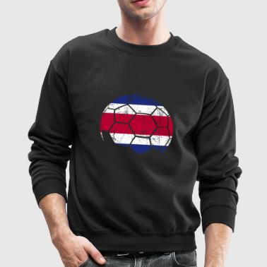 Costa Rica Soccer Football Ball - Crewneck Sweatshirt