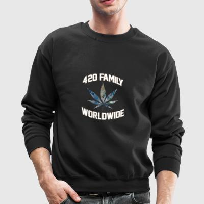 420 WORLDWIDE FAMILY WEED MARIHUANA T-SHIRT - Crewneck Sweatshirt
