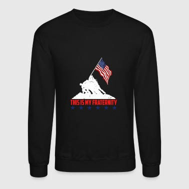 This is My Fraternity American Flag T-shirt - Crewneck Sweatshirt