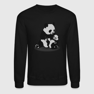 Cute Panda And Baby Panda - Crewneck Sweatshirt