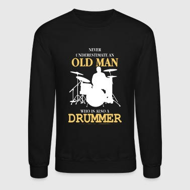 Old Man Drummer - Crewneck Sweatshirt