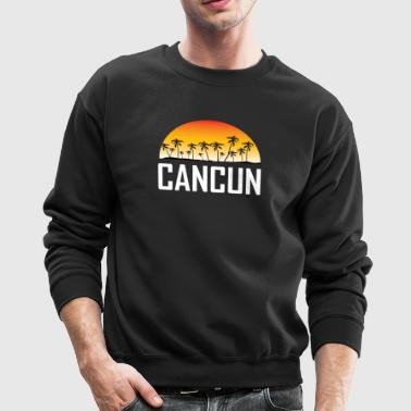 Cancun Mexico Sunset And Palm Trees Beach - Crewneck Sweatshirt