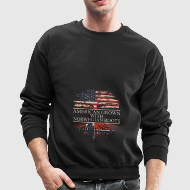 American grown with norwegian roots - Crewneck Sweatshirt