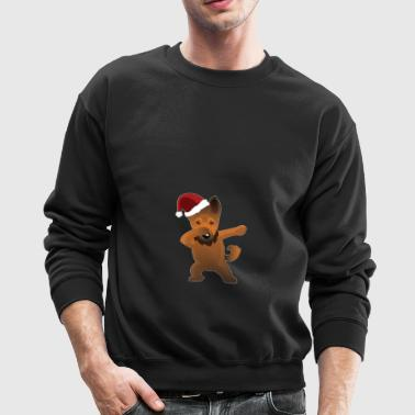 Cute German Shepherd Dabbing Christmas Shirt - Crewneck Sweatshirt