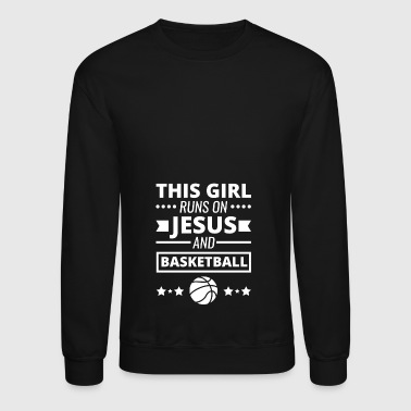 Basketball Shirt, Girls Basketball Gift - Crewneck Sweatshirt