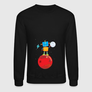 Outer Space Robot on Mars - Crewneck Sweatshirt