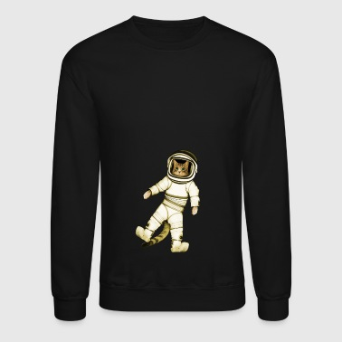 Outer-Space Astronaut Kitty - Crewneck Sweatshirt