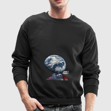 Dont Panic - Red Roadster Escapes from Earth - Crewneck Sweatshirt
