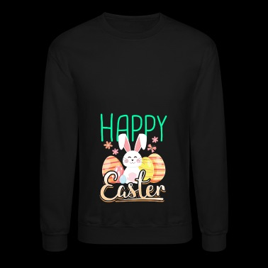 Happy Easter with rabbit bunny eggs gift - Crewneck Sweatshirt