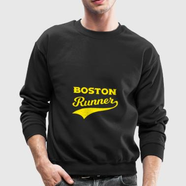 Boston Runners Running Marathon - Crewneck Sweatshirt
