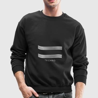 Techno music Design - Crewneck Sweatshirt