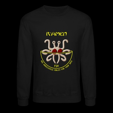 Spaghetti - Flying Spaghetti Monster -- R'Amen - Crewneck Sweatshirt