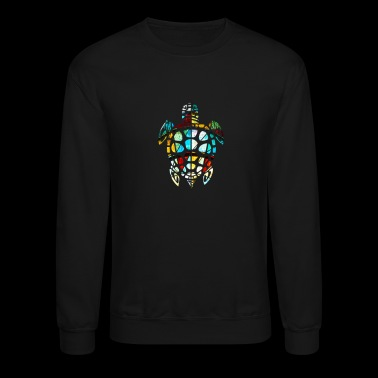 Cool Sea Turtle Stained Glass - Crewneck Sweatshirt