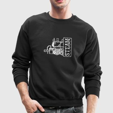 Steam Engine Locomotive - Crewneck Sweatshirt