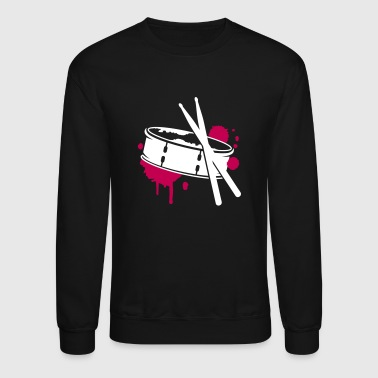 A drum and sticks as a graffiti - Crewneck Sweatshirt