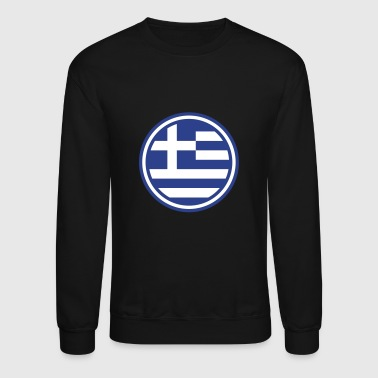 greece greek euro athen flag - Crewneck Sweatshirt