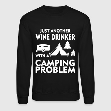 Wine And Camping Shirt - Crewneck Sweatshirt