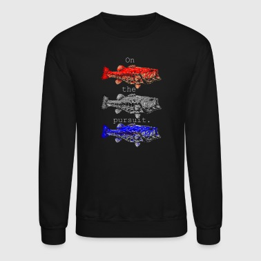 On the pursuit. Red white blue - Crewneck Sweatshirt