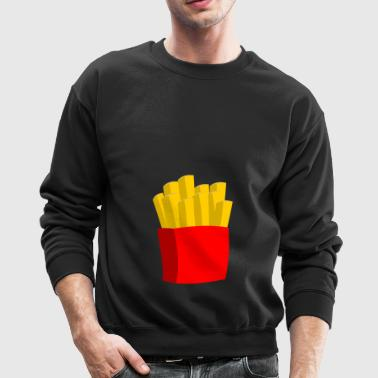 french fries pommes frites fastfood fast food11 - Crewneck Sweatshirt
