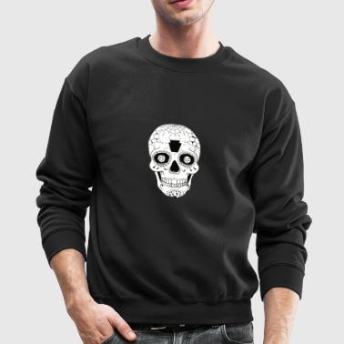 Candy Skull Black and White - Crewneck Sweatshirt