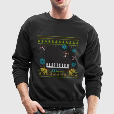 Piano Christmas Ugly Sweater Keyboard Pianist Shirt - Crewneck Sweatshirt
