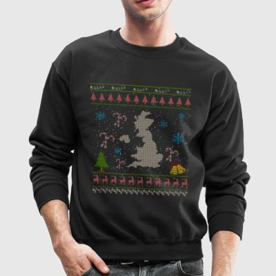 United Kingdom Christmas Ugly Shirt England Shirt - Crewneck Sweatshirt
