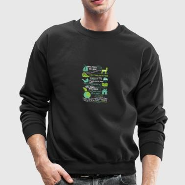I will teach here or there and everywhere - Crewneck Sweatshirt
