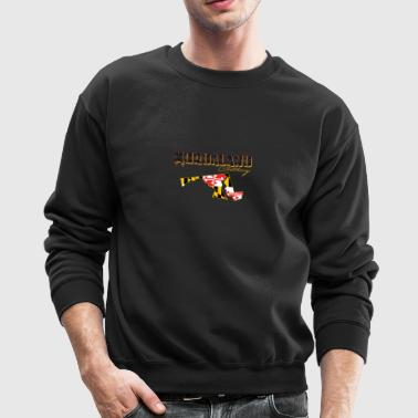 murdaland clothing blk and yellow with state - Crewneck Sweatshirt