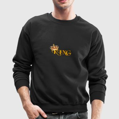 GOLD KING CROWN WITH YELLOW LETTERING - Crewneck Sweatshirt