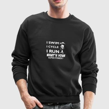 Triathlon Super Power designs - Crewneck Sweatshirt