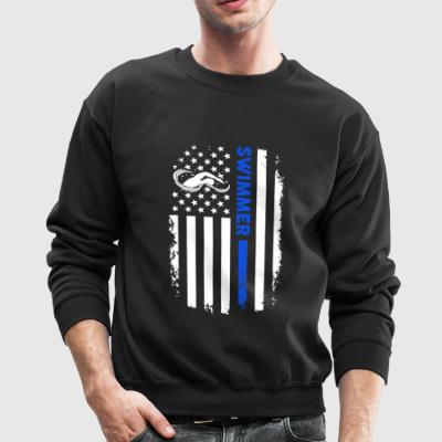 Swimmer Flag Shirts - Crewneck Sweatshirt