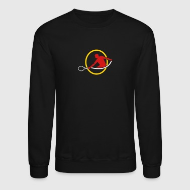 tennis man hitting swing hit - Crewneck Sweatshirt