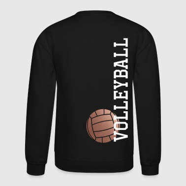 Vertical Rose Gold Volleyball - Crewneck Sweatshirt