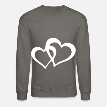 Love With Heart two hearts united - Unisex Crewneck Sweatshirt