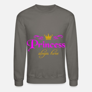 Golden Crown Princess sleeps here - Unisex Crewneck Sweatshirt