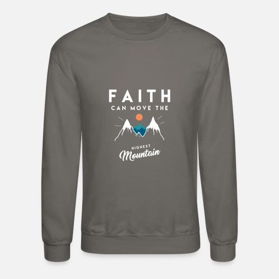 Christianity Hoodies & Sweatshirts - Christian Quote - Unisex Crewneck Sweatshirt asphalt gray