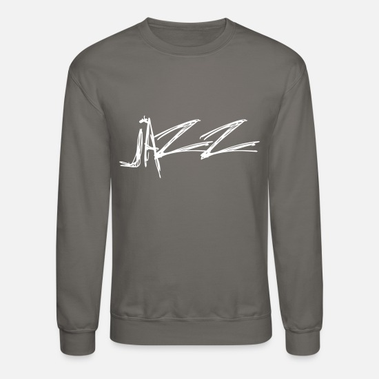 Song Hoodies & Sweatshirts - Jazz - Unisex Crewneck Sweatshirt asphalt gray