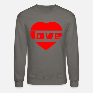 Love With Heart love with heart - Unisex Crewneck Sweatshirt