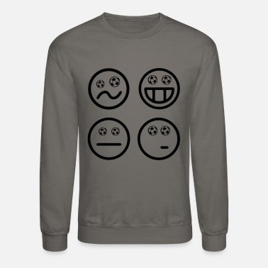 Emoji Smiley World Cup Emoticons Football Soccer Emojis - Crewneck Sweatshirt