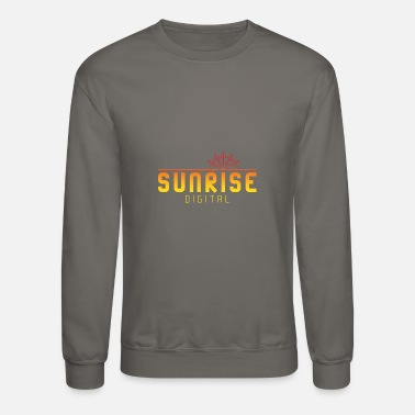 Sunrise Digital Logo - Unisex Crewneck Sweatshirt